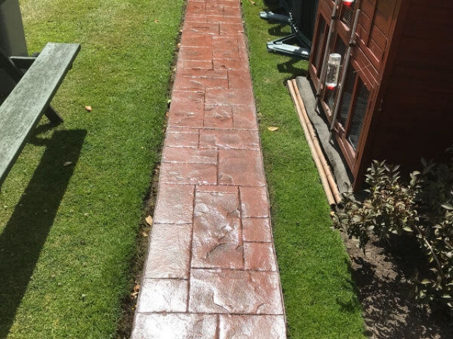 Garden path reseal the Sale area of Manchester