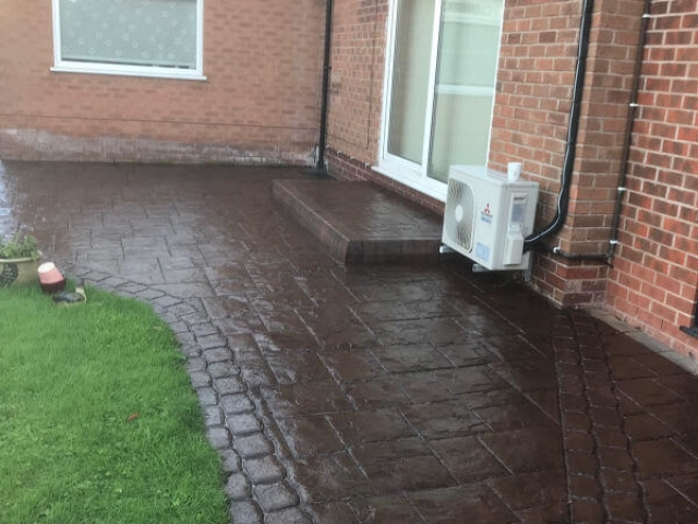 Patio resealed in Gatley