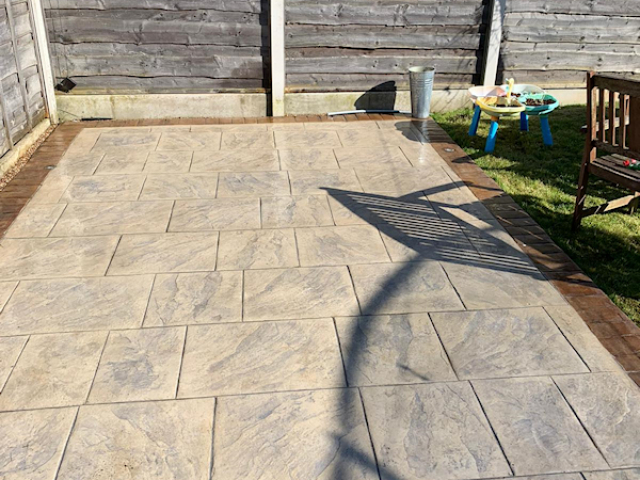 Patio resealed in Wythenshawe Manchester