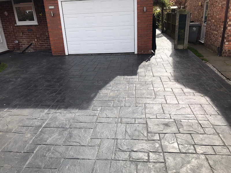 Before the Driveway and Patio Reseal in Wilmslow